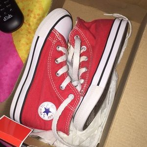 Size 9 toddler Red Converse